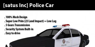 Police Car (mesh) Group Gift by [satus Inc] - Teleport Hub - teleporthub.com