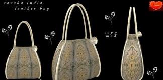 India Leather Bag by Savoha Creations - Teleport Hub - teleporthub.com