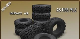 Tire Pile Decor by Total Destruction - Teleport Hub - teleporthub.com