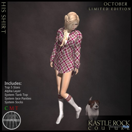 His Shirt October 2013 Group Gift by Kastle Rock Couture - Teleport Hub - teleporthub.com