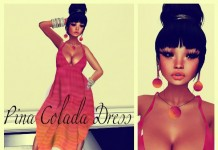 Mesh Pina Colada Dress with Earrings 5L Promo by Simply Sexy Fashions - Teleport Hub - teleporthub.com
