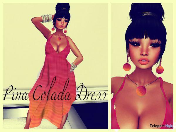 Mesh Pina Colada Dress with Earrings 5L Promo by Simply Sexy Fashions - Teleport Hub - teleporthub.com