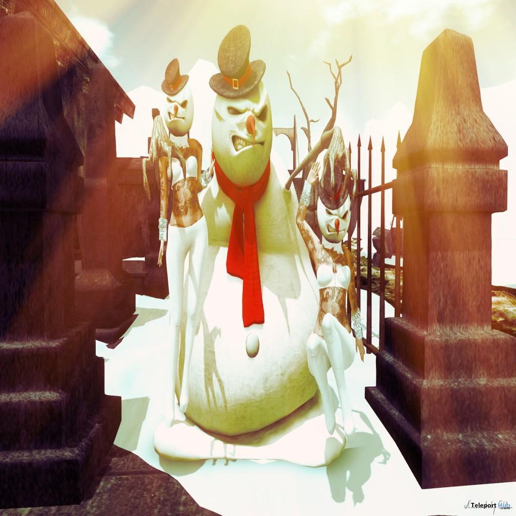 Evil Snow Man Mask Group Gift by RA YA Design - Teleport Hub - teleporthub.com