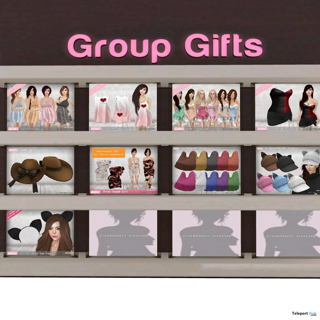 Dresses and Hats 9 Group Gifts by Dollle - Teleport Hub - teleporthub.com