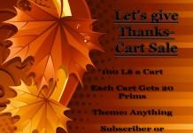 Let's Give Thanks Cart Sale - Teleport Hub - teleporthub.com