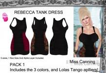 Mesh Rebecca Tankdress Pack 10L Promo by Miss Canning - Teleport Hub - teleporthub.com