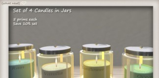 Set of 4 Candles in Jars 10L Promo by What Next - Teleport Hub - teleporthub.com