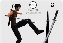 Katana Mesh Sword Set with Animations HUD by Vlad Blackburn - Teleport Hub - teleporthub.com