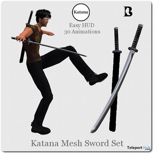 Katana Mesh Sword Set with Animations HUD by Vlad Blackburn - Teleport Hub - teleporthub.com