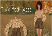 Tunic Mesh Dress Limited Edition Group Gift by Soulglitter - Teleport Hub - teleporthub.com