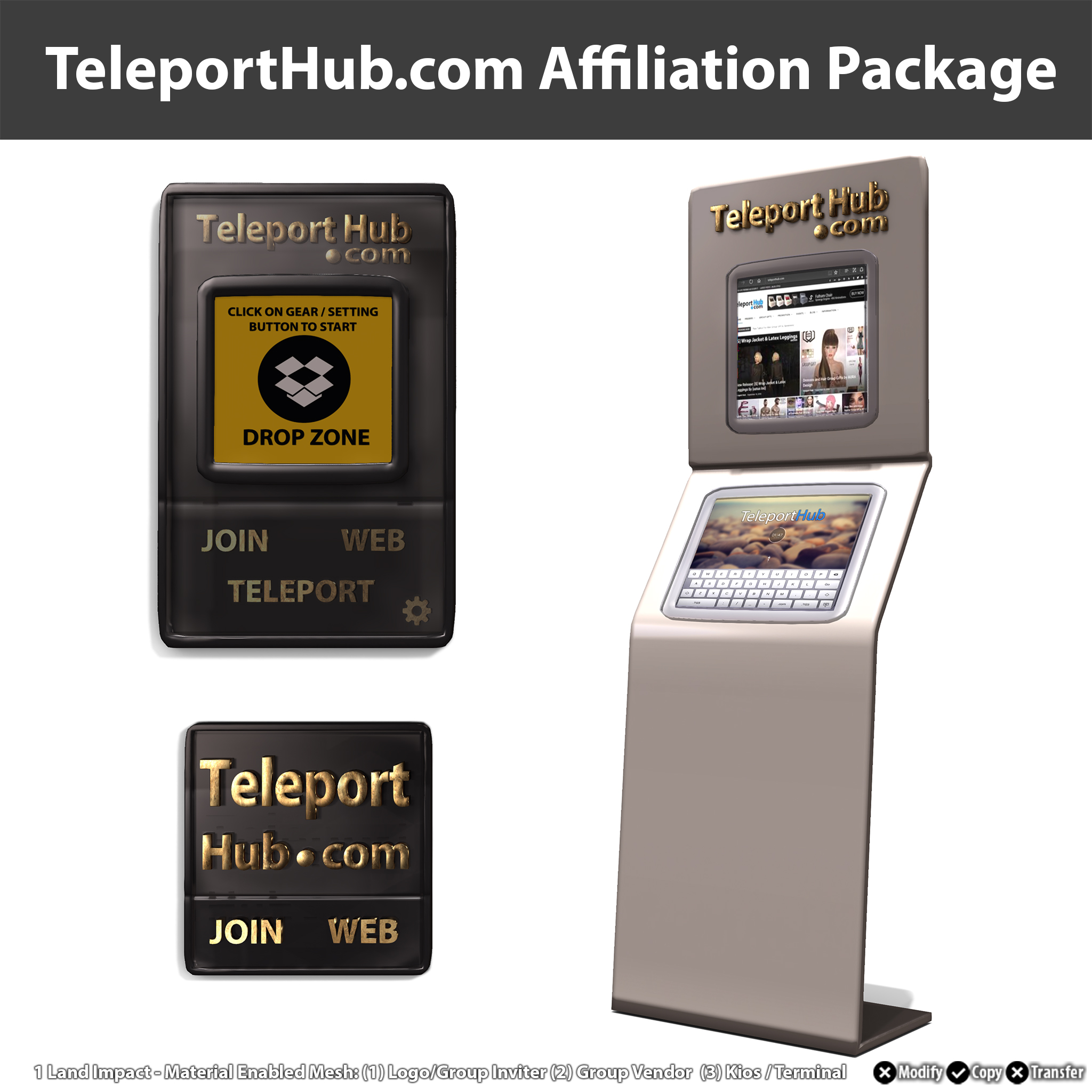 Teleport Hub Affiliation Package