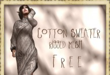 Cotton Sweater Rigged Mesh 1L Promo by !gO! - Teleport Hub - teleporthub.com