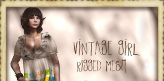 Vintage Girl 1L Promo by !gO! - Teleport Hub - teleporthub.com