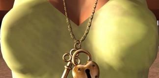 Heart Key Necklace by SMESH - Teleport Hub - teleporthub.com