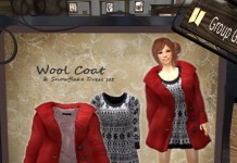 Wool Coat and Snowflake Dress Set Group Gift by S@BBiA - Teleport Hub - teleporthub.com