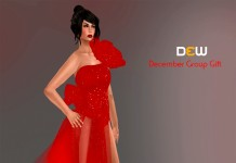 Red Dress December 2013 Group Gift by DEW - Teleport Hub - teleporthub.com