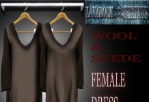 Wool and Suede Mesh Dress Group Gift by Lavarock Creations - Teleport Hib - teleporthub,com