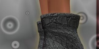 Grey Leather High Heel Stiletto 1L Promo by alba fashion - Teleport Hub - teleporthub.com