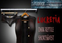 Lucretia Dark Reptile Short Vest Group Gift by Lavarock Creations - Teleport Hub - teleporthub.com