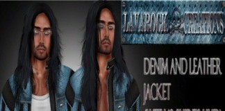 Denim and Leather Jacket Group Gift by Lavarock Creations - Teleport Hub - teleporthub.com