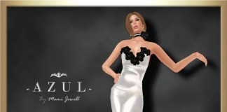 White Gown March 2014 Group Gift by -Azul- - Teleport Hub - teleporthub.com