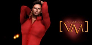 Passion Set Massimo Shirt Red and Leather Pant Group Gift by VERO MODERO - Teleport Hub - teleporthub.com