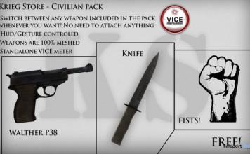 Civilian Pack Weapon by K-S - Teleport Hub - teleporthub.com