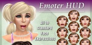 Emote HUD Face Expressions by Elle Mode - Teleport Hub - teleporthub.com