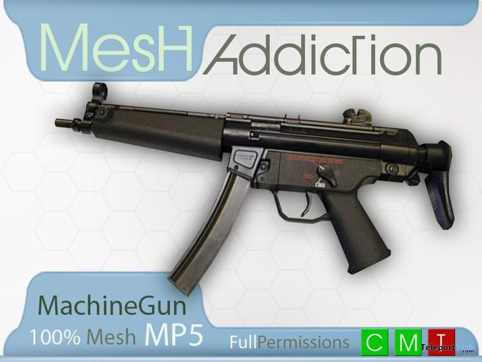 Mesh MP5 Machine Gun by MeshAddiction - Teleport Hub - teleporthub.com