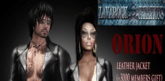 Orion Leather Jacket 3000 Members Group Gift by Lavarock Creations - Teleport Hub - teleporthub.com