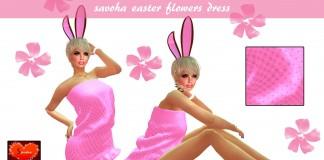 Savoha Easter Flowers Dress 1L Promo by Savoha Creations - Teleport Hub - teleporthub.com
