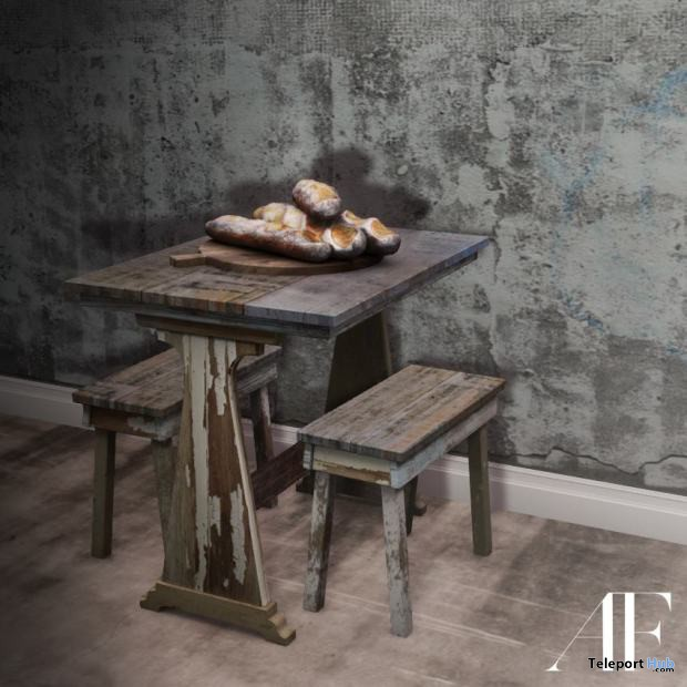 Cottage Dining Table and Stools by Apple Fall - Teleport Hub - teleporthub.com