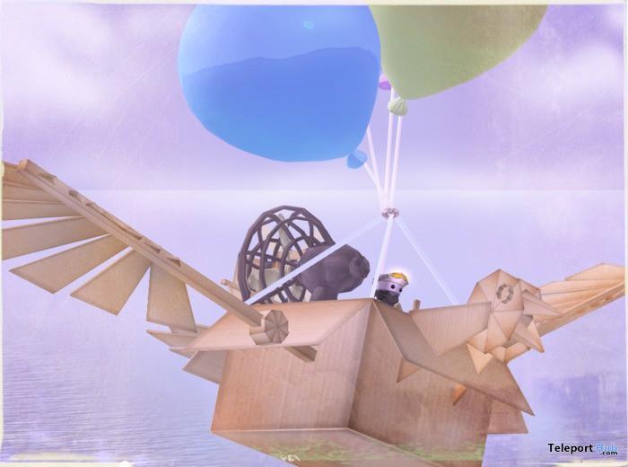 Balloon Cardboard Airship by MelonPie - Teleport Hub - teleporthub.com