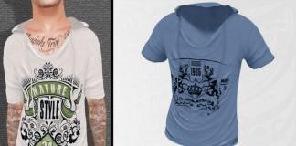 Mesh T-Shirt 2L Promo by World Of Men - Teleport Hub - teleporthub.com