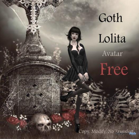 Goth Lolita Avatar by Beatrix Faith - Teleport Hub - teleporthub.com