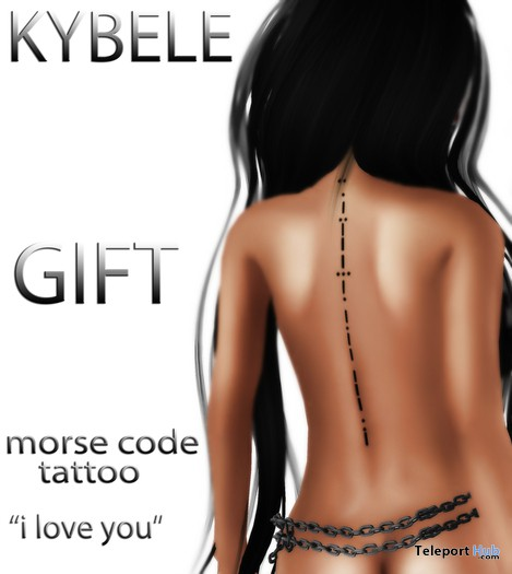 Morse Code Tattoo I Love You by KYBELE - Teleport Hub - teleporthub.com
