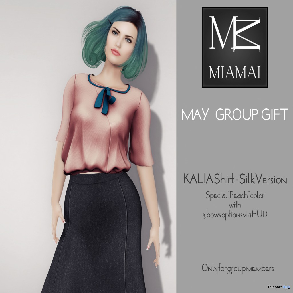Kalia Shirt Silk May 2014 Group Gift by MIAMAI - Teleport Hub - teleporthub.com