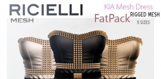 KIA Mesh Spiked Dress 25L Promo by R.icielli - Teleport Hub - teleporthub.com
