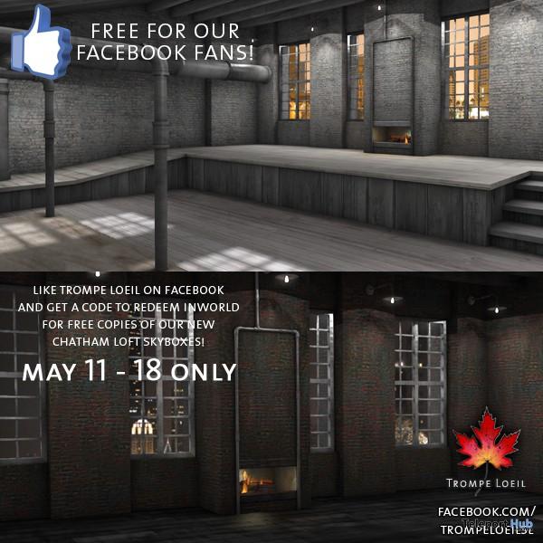 Chatham Loft Skybox Facebook Likes Giveaway Promo by Trompe Loeil - Teleport Hub - teleporthub.com