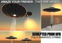 Realistic Animated Sculptie UFO by TESLA - Teleport Hub - teleporthub.com