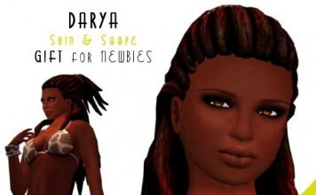 Darya Ebony Skin and Shape for Newbies by Bodyzone - Teleport Hub - teleporthub.com