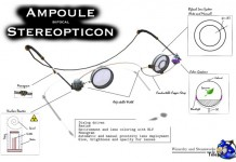 Ampoule Bifocal Stereopticon Steampunk Style Glasses by WaS-K - Teleport Hub - teleporthub.com
