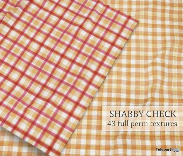 Shabby Check Fabric I Seamless Texture by Empire - Teleport Hub - teleporthub.com