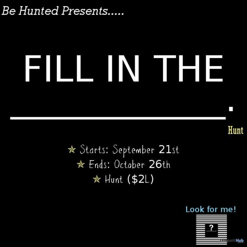 Fill In The Blank Hunt - Teleport Hub - teleporthub.com
