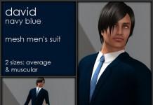 David Navy Blue Men's Suit 10L Promo by pure - Teleport Hub - teleporthub.com