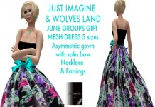 Mesh Dress Group Gift by Just Imagine and Wolves Land - Teleport Hub - teleporthub.com