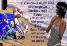 Mini Dress, Bikini, and Float Rings Group Gift by Just Imagine and Wolves Land - Teleport Hub - teleporthub.com