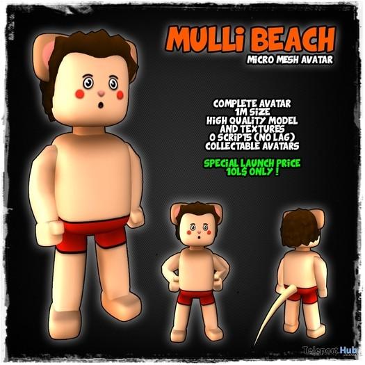 Mulli Beach Micro Mesh Avatar by SchyloLabs - Teleport Hub - teleporthub.com