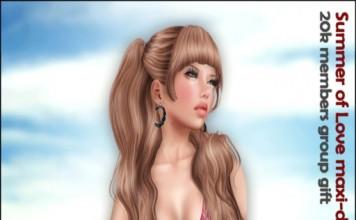 Summer of Love Maxi-Dress 20K Members Group Gift by Sassy! - Teleport Hub - teleporthub.com