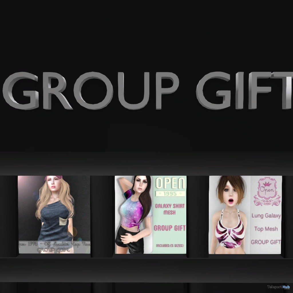 Three Mesh Tops Group Gift by OPEN 1995 - Teleport Hub - teleporthub.com